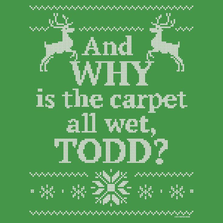 """Christmas Vacation """"And WHY Is The Carpet All Wet, TODD"""