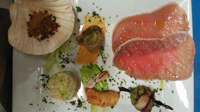 antipastini misti a base di pesce