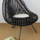 Blackwash Tub Chair w/Cushion