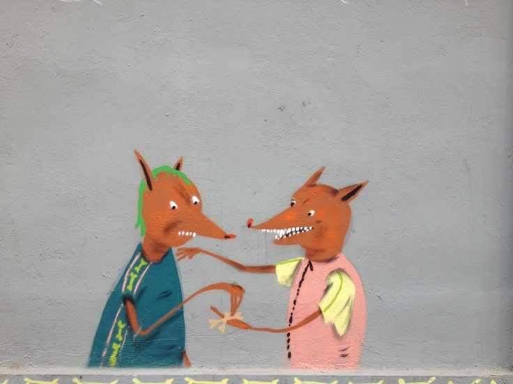 Foxy Spanish graffiti