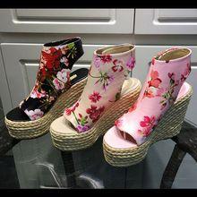 Yaz Örgü Yüksek Topuklar Dilimleri Elbise Ayakkabı 2016 Kadın Bilek Motosiklet Boots Pompalar Yumuşak Deri Gladyatör Sandalet Kadınlar Peep Toe (Çin (Anakara))