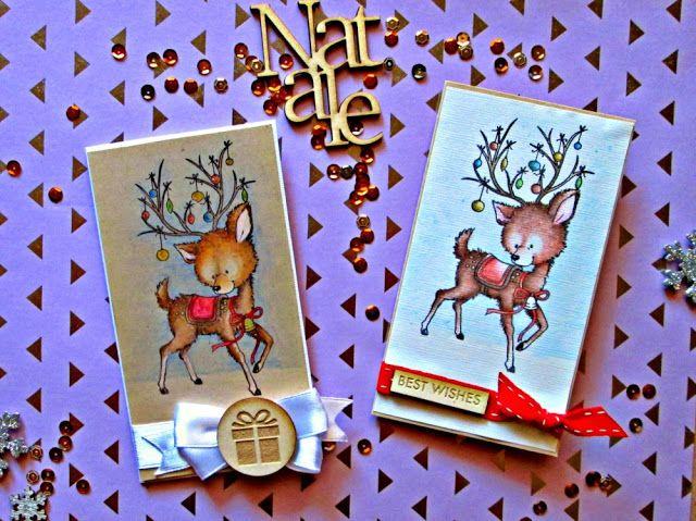 Grani di pepe: Rennine natalizie - card