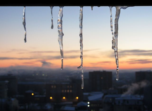 And the tears of Winter are hanging from the roof... Photo by Vic Istomin on EyeEm