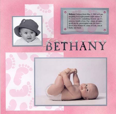 b and color cute baby pic w/definiton on velum paper