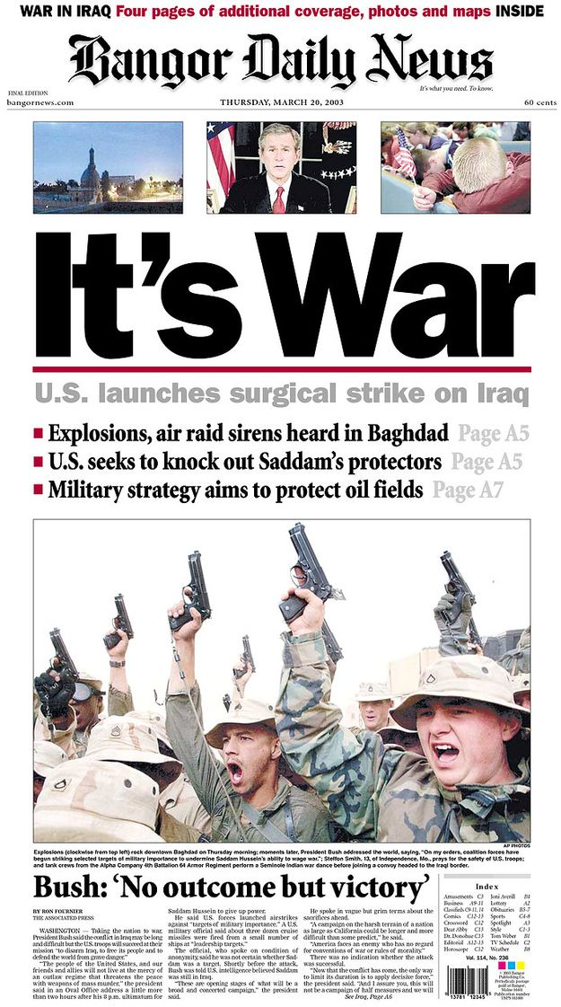 effect of media during iraq war More war, iraq essay topics during the immediate aftermath of 9/11, the threat iraq potentially was viewed as on the us was not acknowledged by the people or by media outlets.