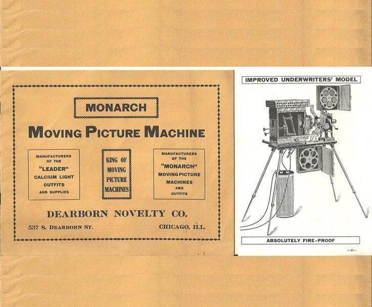 SOLD     Monarch Moving Picture Machine Catalog - Movie Projector Sales Booklet - Vintage ORIGNAL Motion Picture History - Early Cinema Equipment by IrrenaysTreasures on Etsy