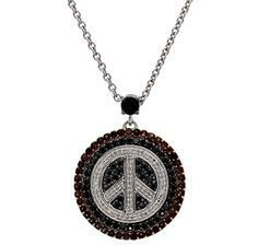 Peace necklace - sparkle!!