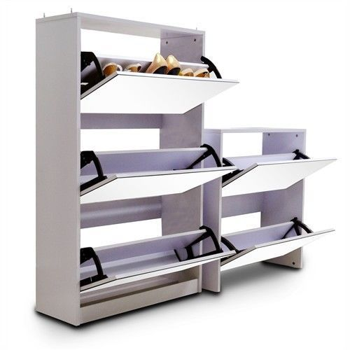 2013 New Design-Stackable Stylish Mirrored 5 Levels Shoe Cabinet White in Home & Garden, Cleaning, Housekeeping, Home Organisation | eBay