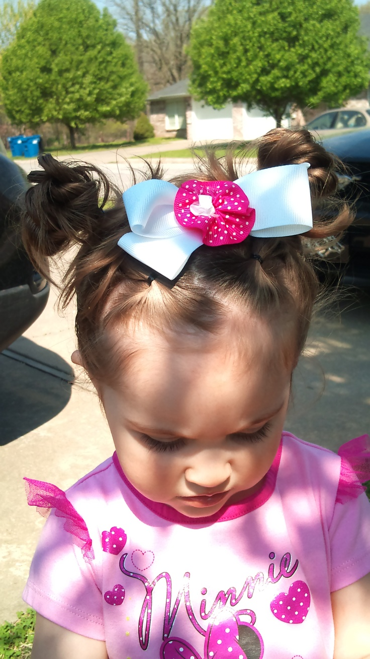 Minnie mouse messy buns