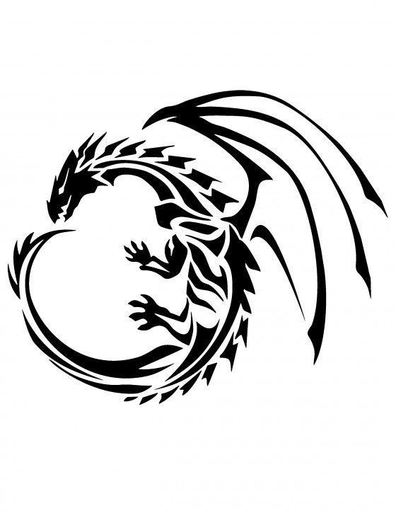 Smart image in dragon stencil printable