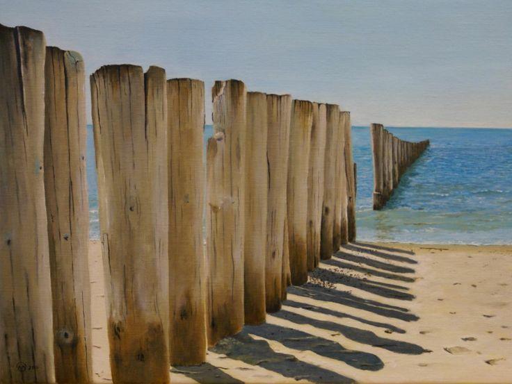 strandpalen bij Westenschouwen