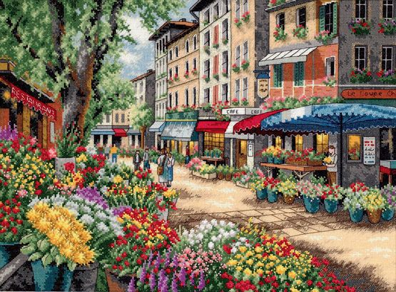Paris Market Cross Stitch Kit £47.00 | Past Impressions | Dimensions