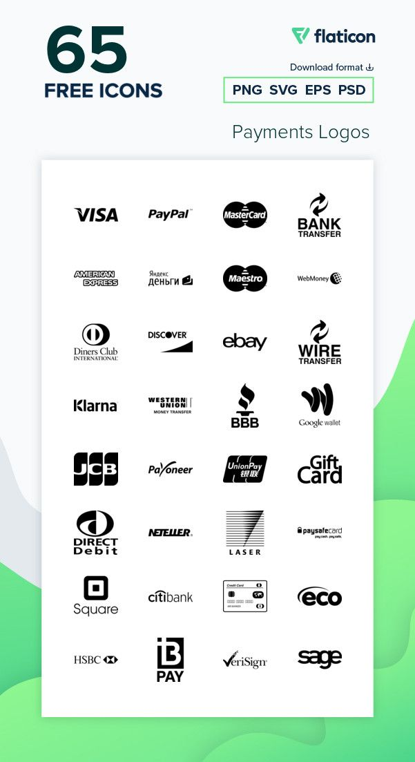 65 Free Vector Icons Of Payments Logos Designed By Freepik Vector Icons Free Icon Packs Icon