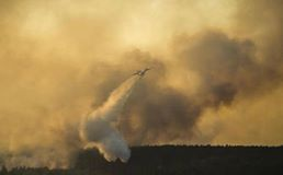 Forest  #fire in  #Chernobyl exlcusion zone.  Visit  #Chernobyl  #Pripyat  during  #Chernobyltour www.CHERNOBYLwel.com