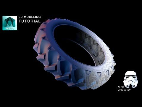 Modeling a Tractor Tire in Maya - Lattices and Bend Deformers - YouTube
