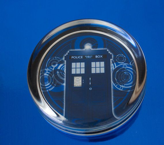 Solid Glass Round Dr Who Tardis by UnofficiallyOriginal on Etsy