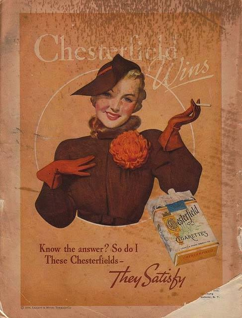 Chesterfield | Tabaco vintage advert |