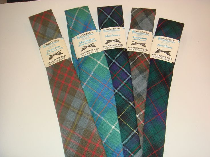 There are well over 500 tartan tie choices available in fine worsted wool. Entire product is made in Scotland. We stock approximately 100 in the shop so if your's is available, we can ship it right aw