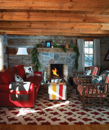 Canadian-Themed Living Room