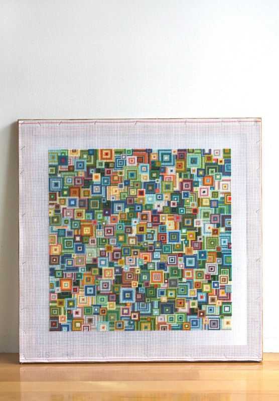 PDF needlepoint pattern / shikaku green mix. $8.75, via Etsy.