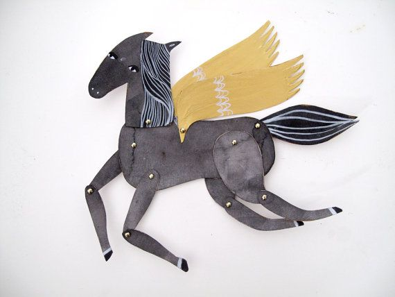 Build Your Own Mini Horse Articulated Decoration  / Hinged Beasts Series