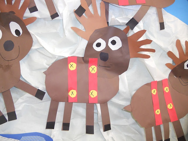 """Reindeer """"pattern"""" directions. Just dimensions that everything needs to be."""