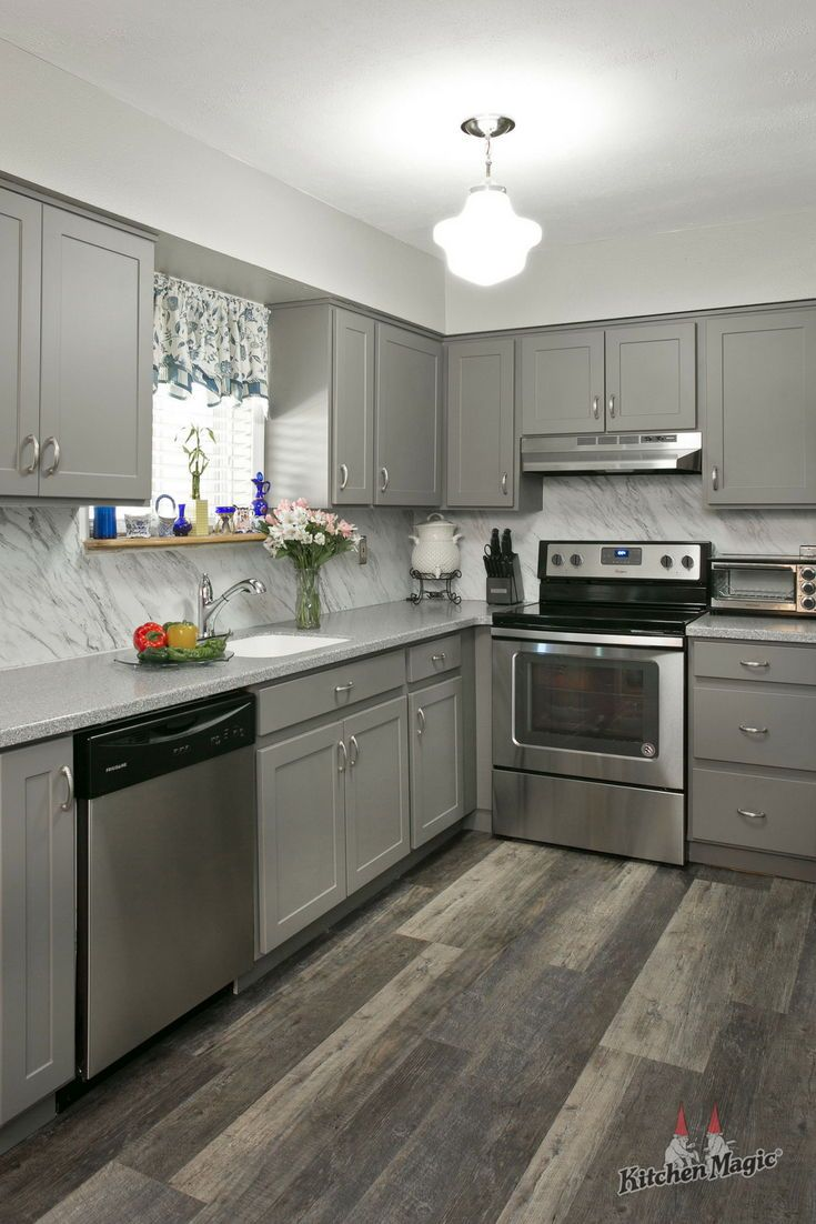4 Scientific Reasons To Go Gray In Your Kitchen Hardwood Floors In Kitchen Kitchen Remodel Grey Kitchen Designs