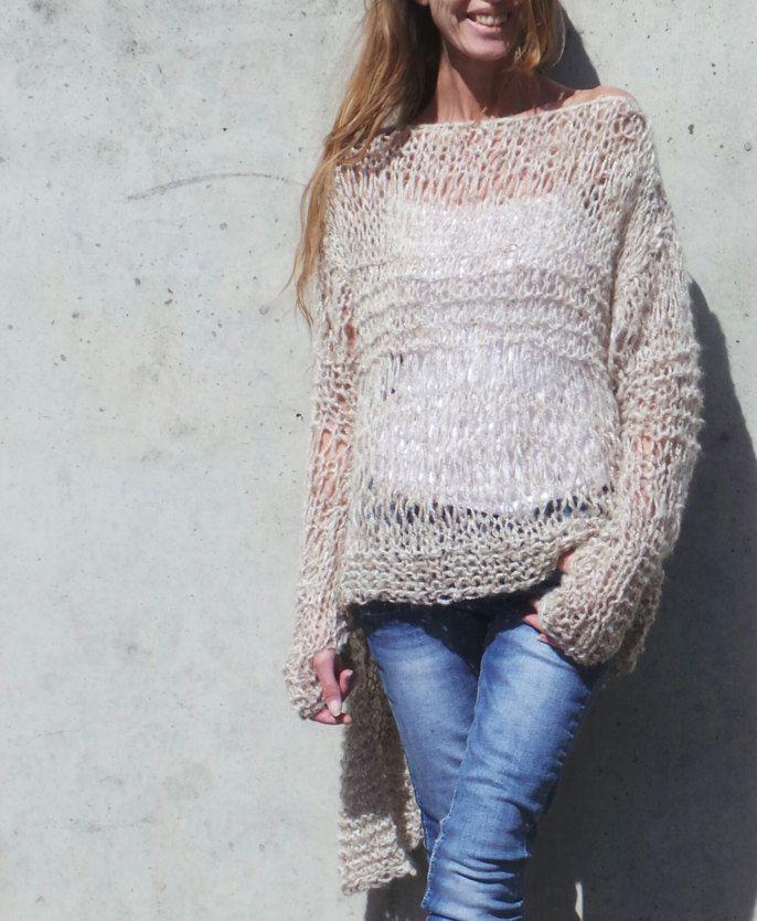 cerbiatto maglione beige / grunge leggero grano beige di ileaiye