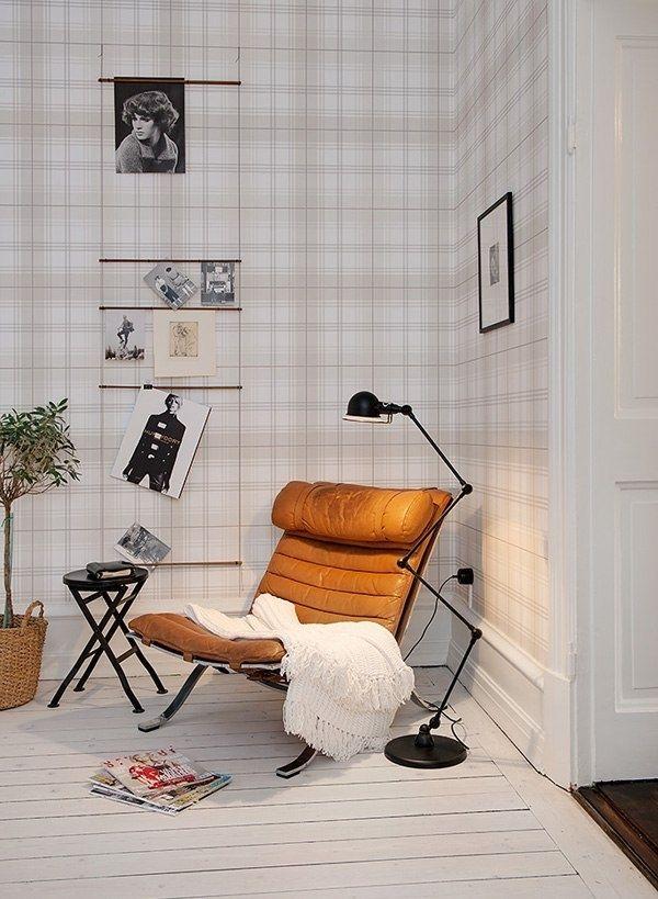 Обои в клетку в однокомнатной квартире - Дизайн интерьеров | Идеи вашего дома | Lodgers