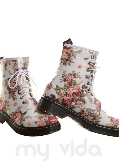 BIANCO - Stivali donna anfibi con fiori https://www.myvida.org/scarpe/stivali-donna-anfibi-fiori