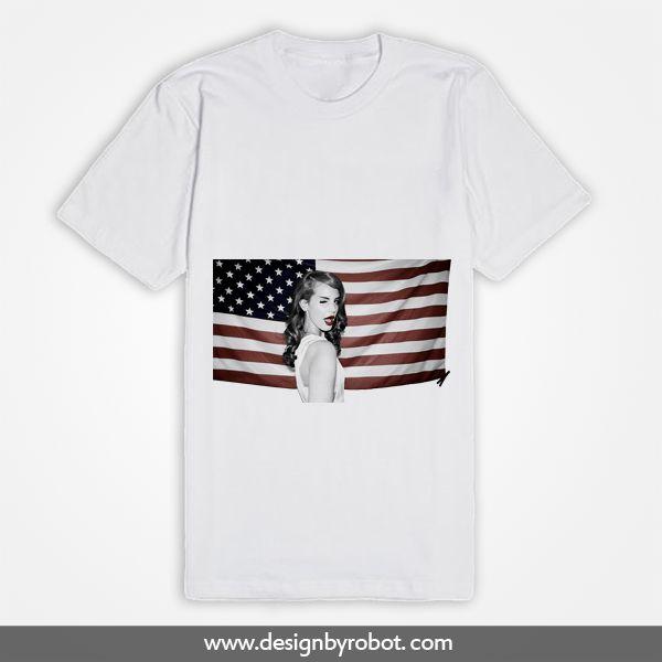 Lana Del Rey USA Flag T Shirt