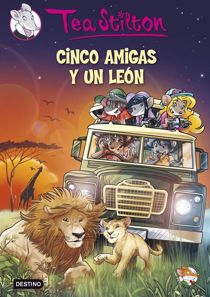 Cinco amigas y un león, de Tea Stilton - Editorial: Destino - Signatura: I STI cin - Código de barras: 3284196 - http://www.planetadelibros.com/cinco-amigas-y-un-leon-libro-118650.html