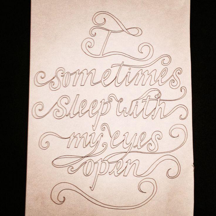 Typography I drew