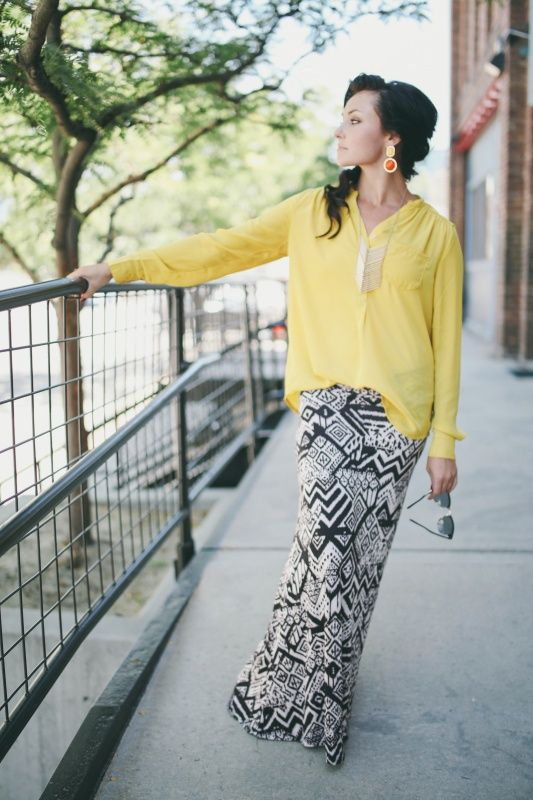 maxi skirt fall style