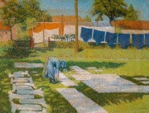 Laundry Day 1890 - Georges Morren - (Belgian: 1868 - 1941)