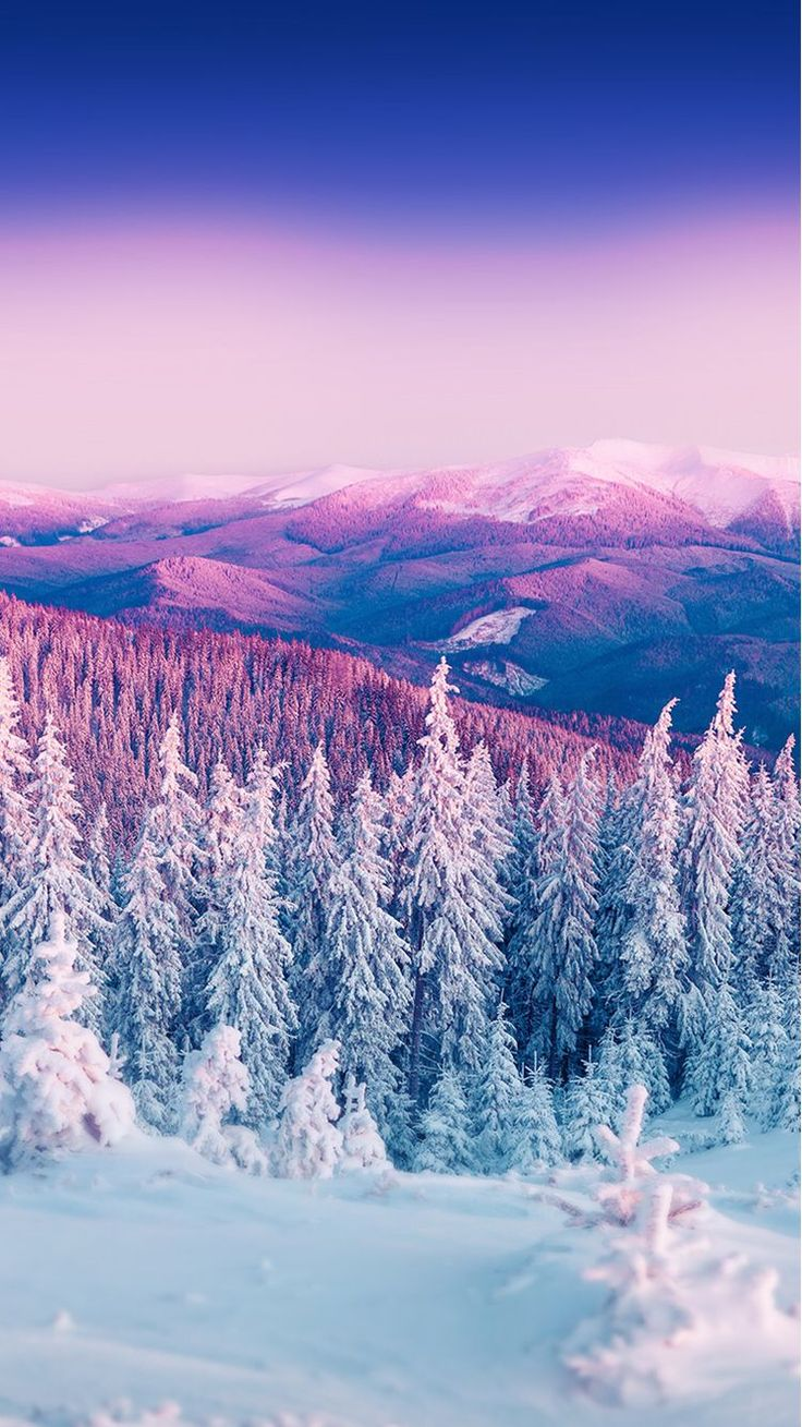 iphonewalls.net wp-content uploads 2017 01 Purple%20Winter%20Mountain%20Landscape%20iPhone%206%20Wallpaper.jpg