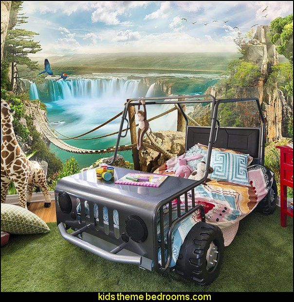 Off Road Twin Car Bed Jungle Safari Theme Bedroom Furniture