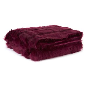 Kilbride Faux Fur Ruby Throw, snuggle time with this throw