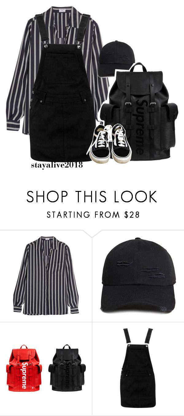 """but i wish i was dead"" by stayalive2018 ❤ liked on Polyvore featuring Frame, 21 Men, Louis Vuitton, Boohoo and Vans"