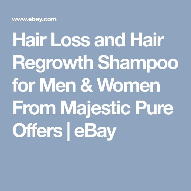 Hair Loss and Hair Regrowth Shampoo for Men & Women From Majestic Pure Offers | eBay