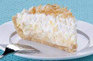 Tropical Coconut Cream Pie in Coconut Cookie Crust recipe #kraftrecipes