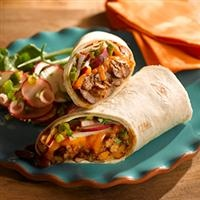 Red Bean Burrito with Radish Salad