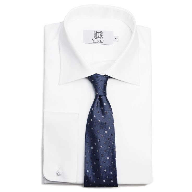 White Formal Shirt by MILER Luxury Shirts