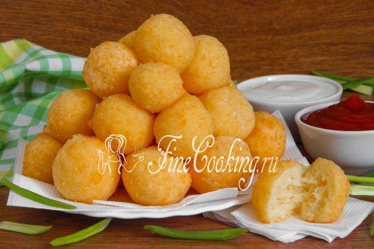 Сырные шарики - рецепт с фото