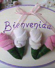 Cartel de bienvenida para la puerta de la clínica. www.babyflowers.com.ar