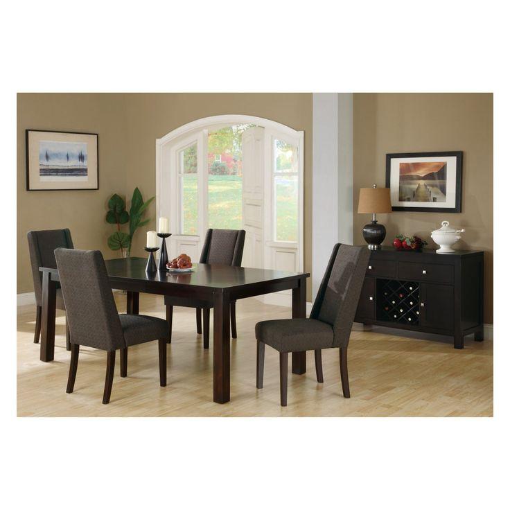 Monarch Dark Brown Linen Dining Chair