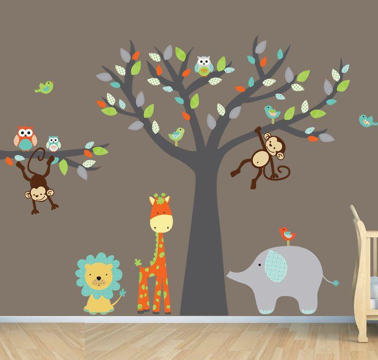 Unique D Wall Decals Ideas On Pinterest Masking Tape Art - Wall decals kids roomcartoon monkey climbing flower vine wall decals kids room nursery