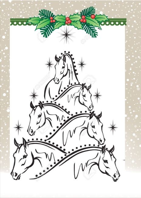 horse christmas card cards drawings cool holiday drawing stencil send lover easy holidays horses trees paint visit sendoutcards sendcere