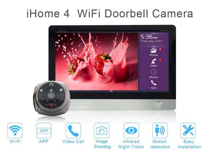 Smart home security system WiFi Wireless Doorbell Camera System,WIFI video intercom door phone,front door security camera system #Affiliate