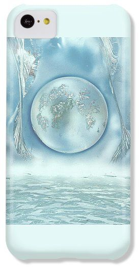 Turquoise Dream IPhone 5c Case Printed with Fine Art spray painting image Turquoise Dream by Nandor Molnar (When you visit the Shop, change the orientation, background color and image size as you wish)